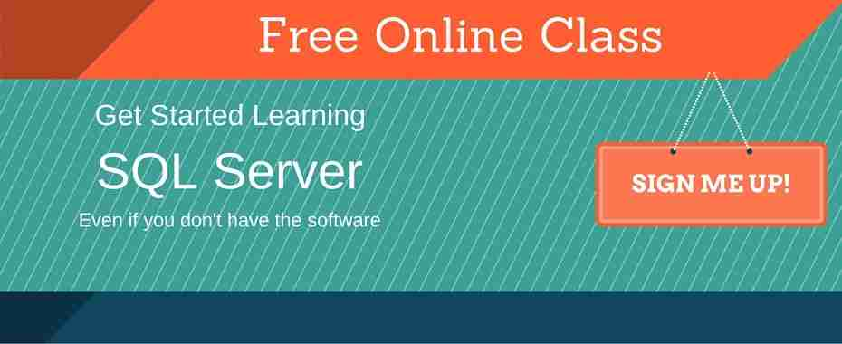 Free Online SQL Server Class