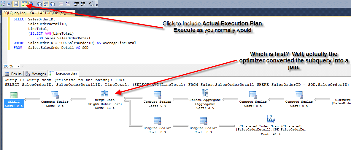 Run SQL Execution Plan