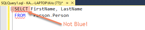 Keywords Spelled Incorrectly - Common SQL Mistakes