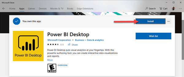 Get Started with Power BI - Windows Store